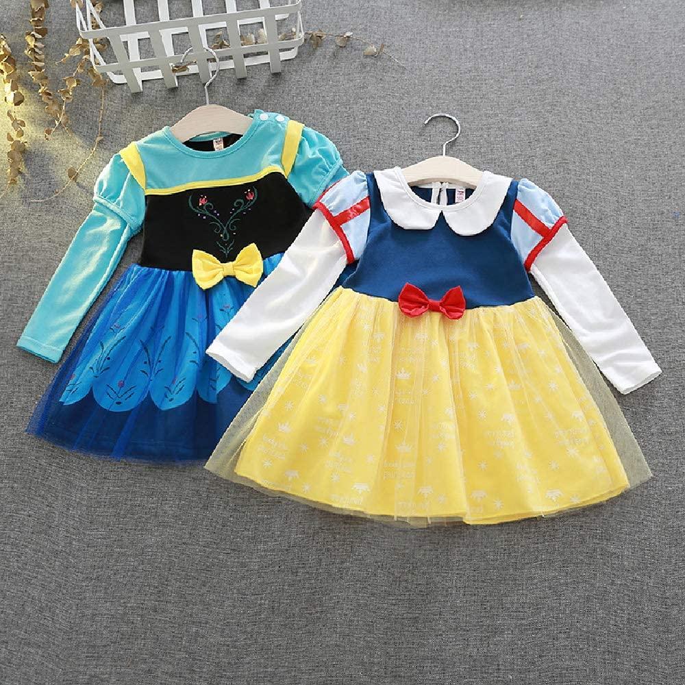 Quenny Children Snow White Dress, Girls' Christmas Costume, Dress Performance Costume.