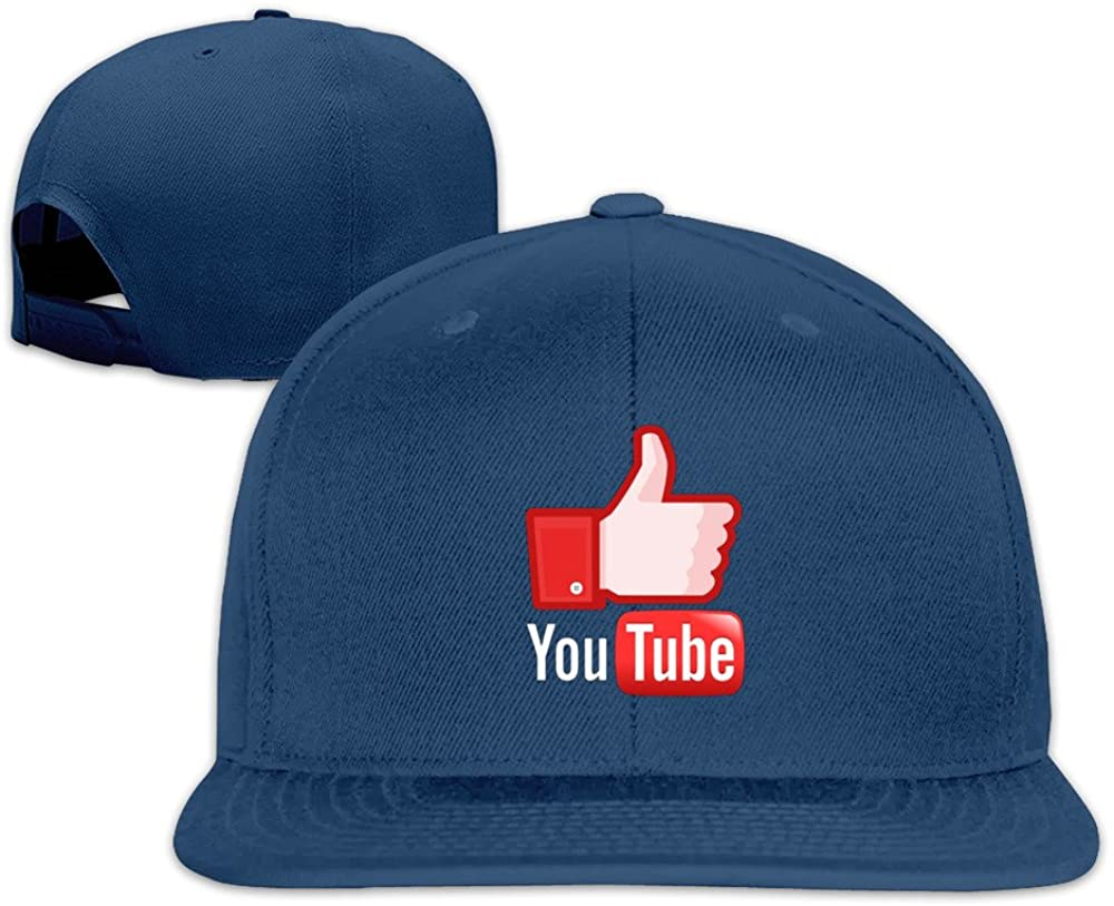 Beetful YouTube Plain Adjustable Snapback Hats Caps