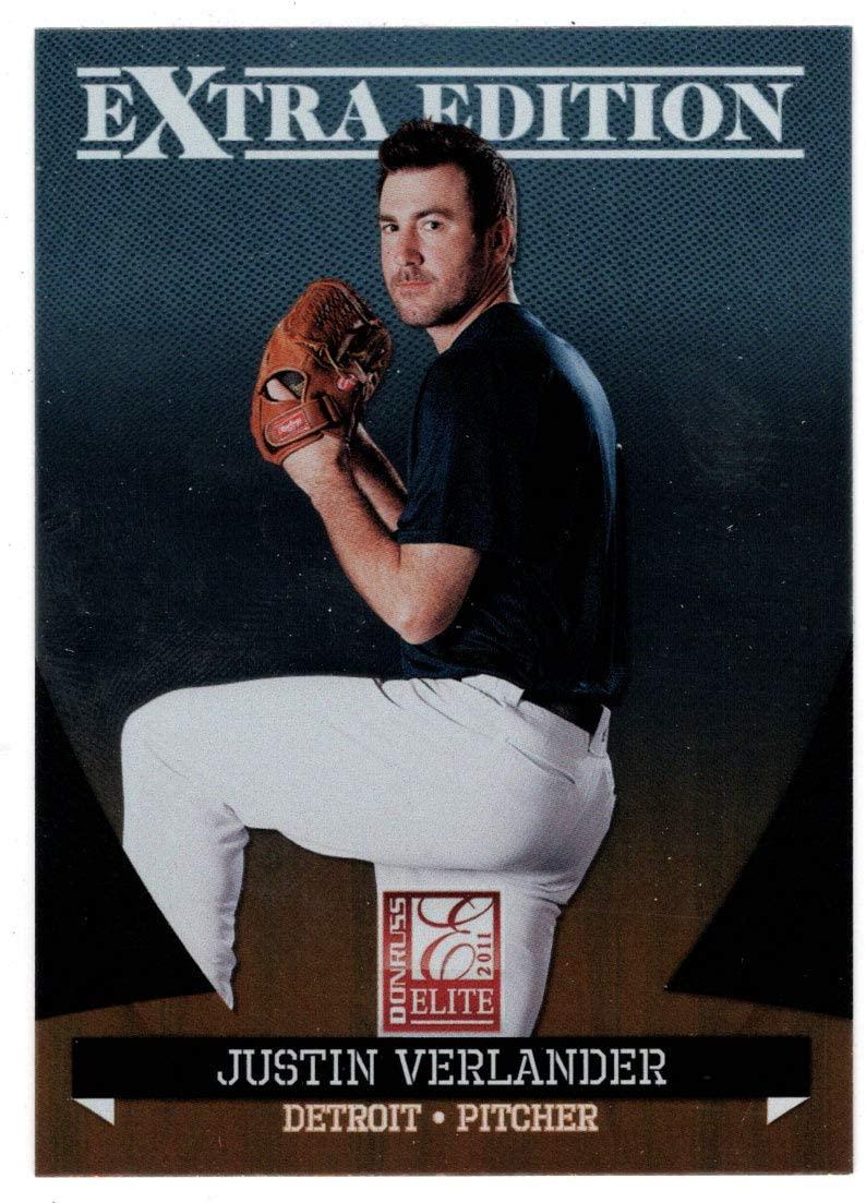 Justin Verlander (Baseball Card) 2011 Donruss Elite Extra Edition # 14 Mint