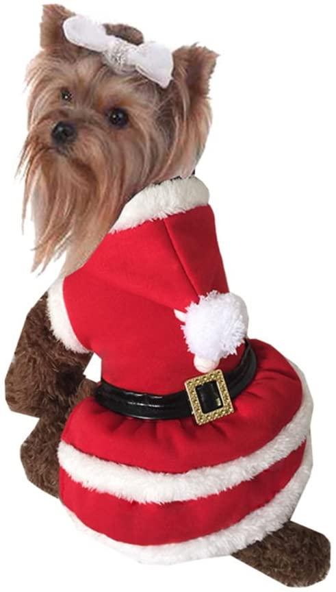 NACOCO Pet Christmas Coat Dog Cat Santa Claus Suit Xmas Skirts Dog Coat Dog Costumes