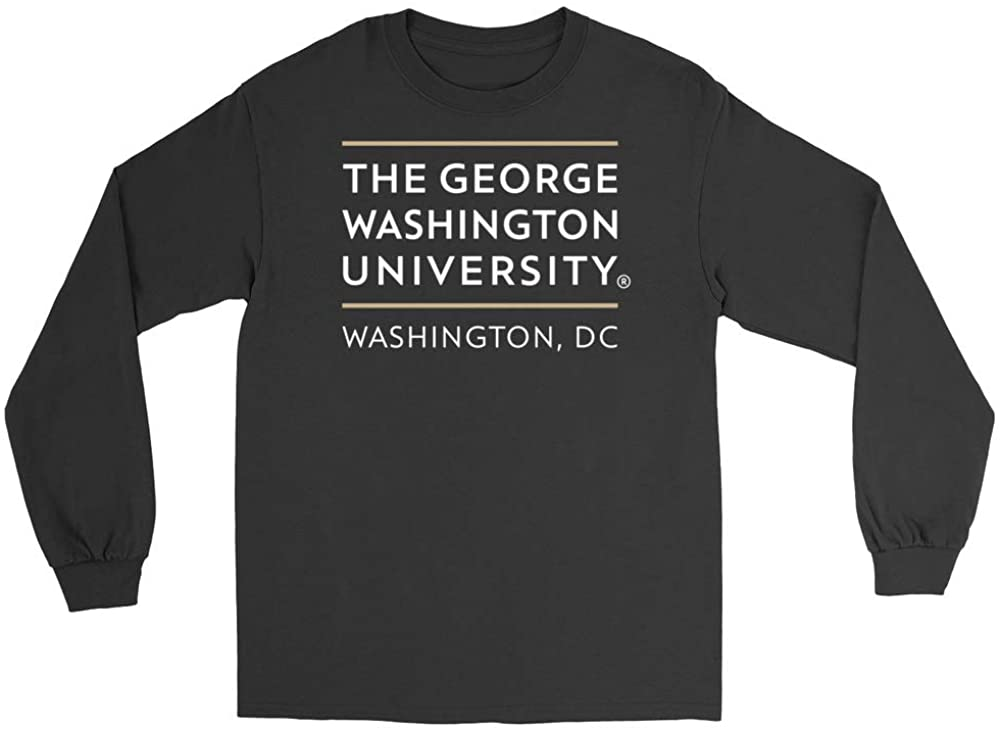 Official NCAA George Washington University (DC) Colonials Mens/Womens Boyfriend Long Sleeve Tee RYLGWU06
