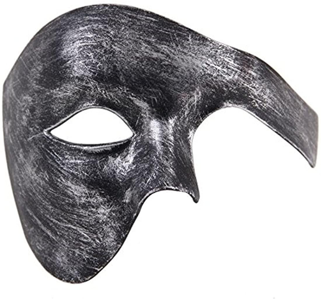 Mens Masquerade Mask Phantom of The Opera Mask Venetian Half Face Mask Halloween Costumes