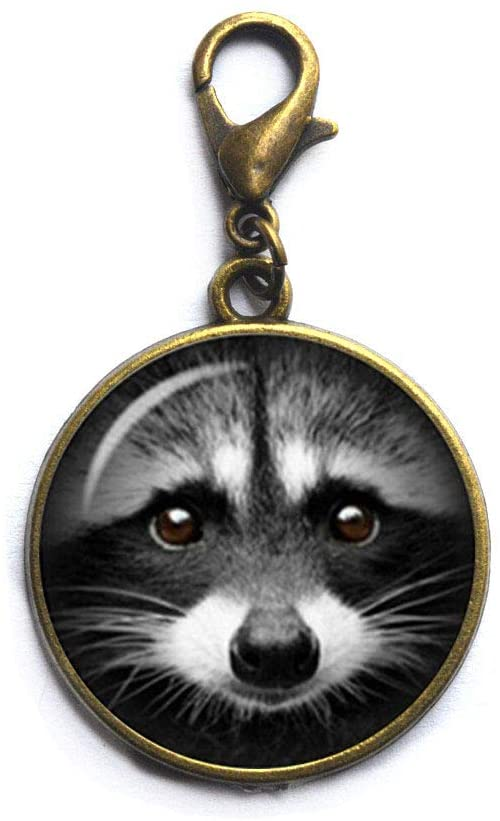 Racoon Zipper Pull, Wildlife Jewellery, Raccoon Zipper Pull, Animal Zipper Pull, Christmas Jewellery, Xmas Gift, Stocking fillers, Wild Animal,N201