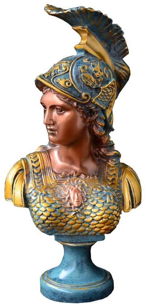 Athena Head Statue Decoration, Resin Figure Statue Sculpture Crafts Office, Bar, Living Room Decoration Decoration H34CM