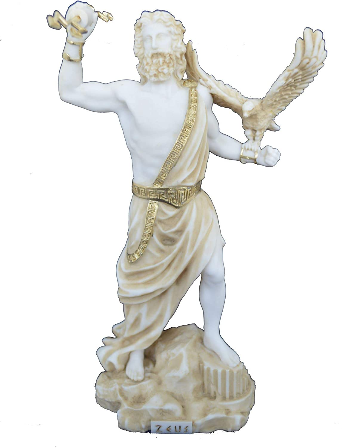 Talos Artifacts Zeus Statue Ancient Greek God King of All Gods Active Sculpture Aged