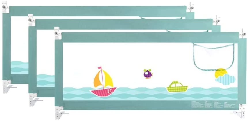 ZHAS Bed Rail – Bed Guard for Toddler Bed - Queen Size Bed Guard for Kids - Cartoon Print - Safe Sleep for Double Bed (Size : 2x2x2m)