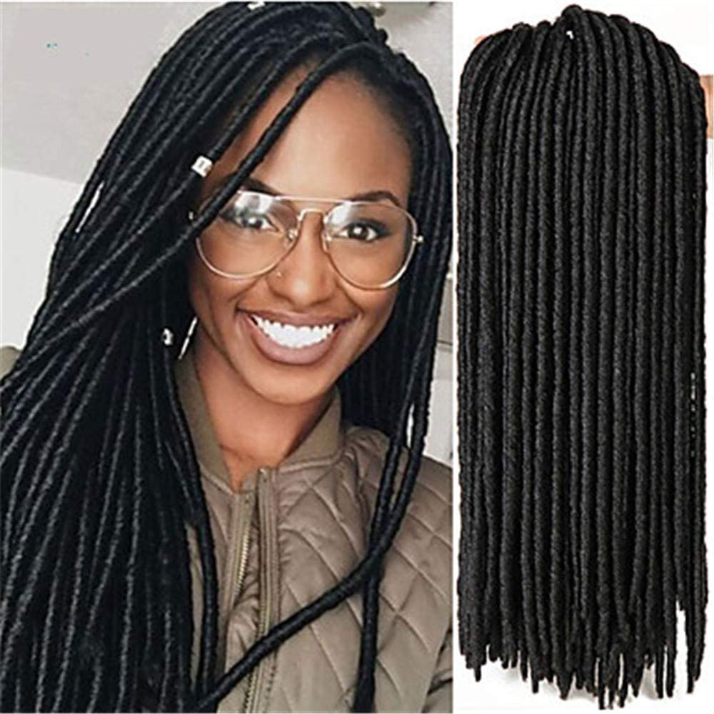 Braiding Hair Crochet Havana Dreadlocks/Faux Locs Kanekalon 24 Roots/Pack Hair Braids Soft Dreadlock Extensions Dreads Locs,A