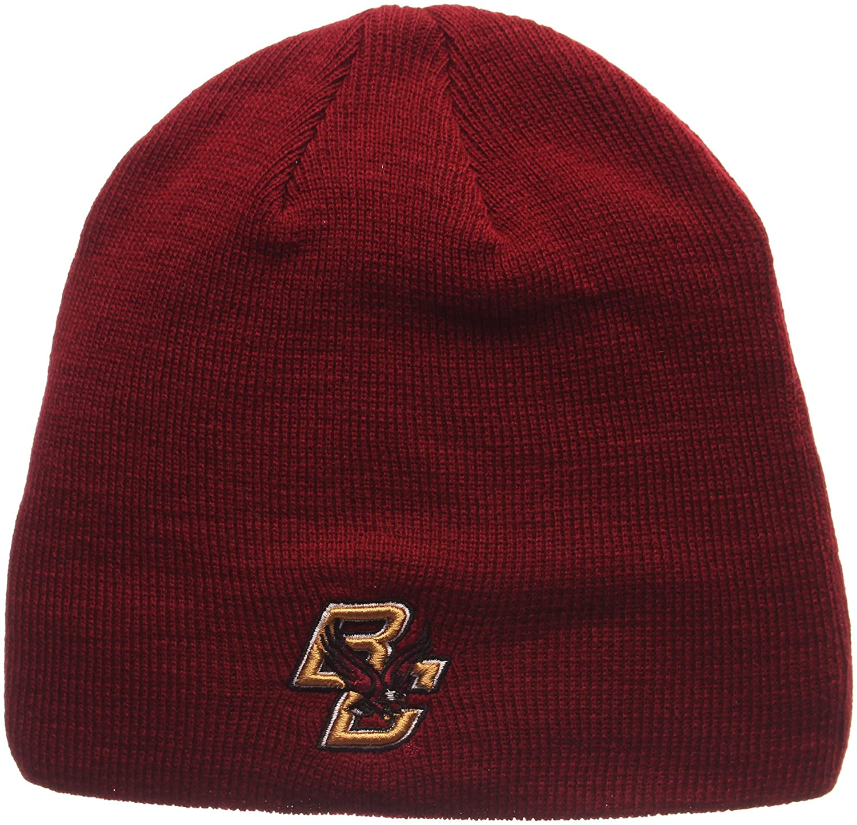 Zephyr ZHATS Edge Skull Cuffless Classic Beanie Hat NCAA Winter Knit Toque Cap