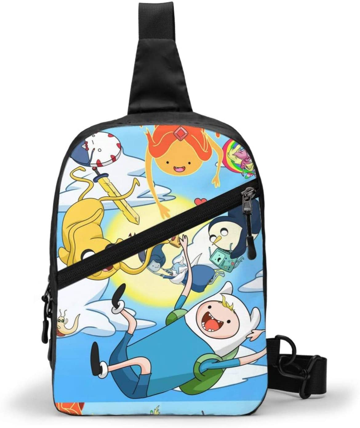 Adventure Time Backpack Cross Body Bag Sling Bag Chest Pack Bag Men/Women Folding Chest Bag