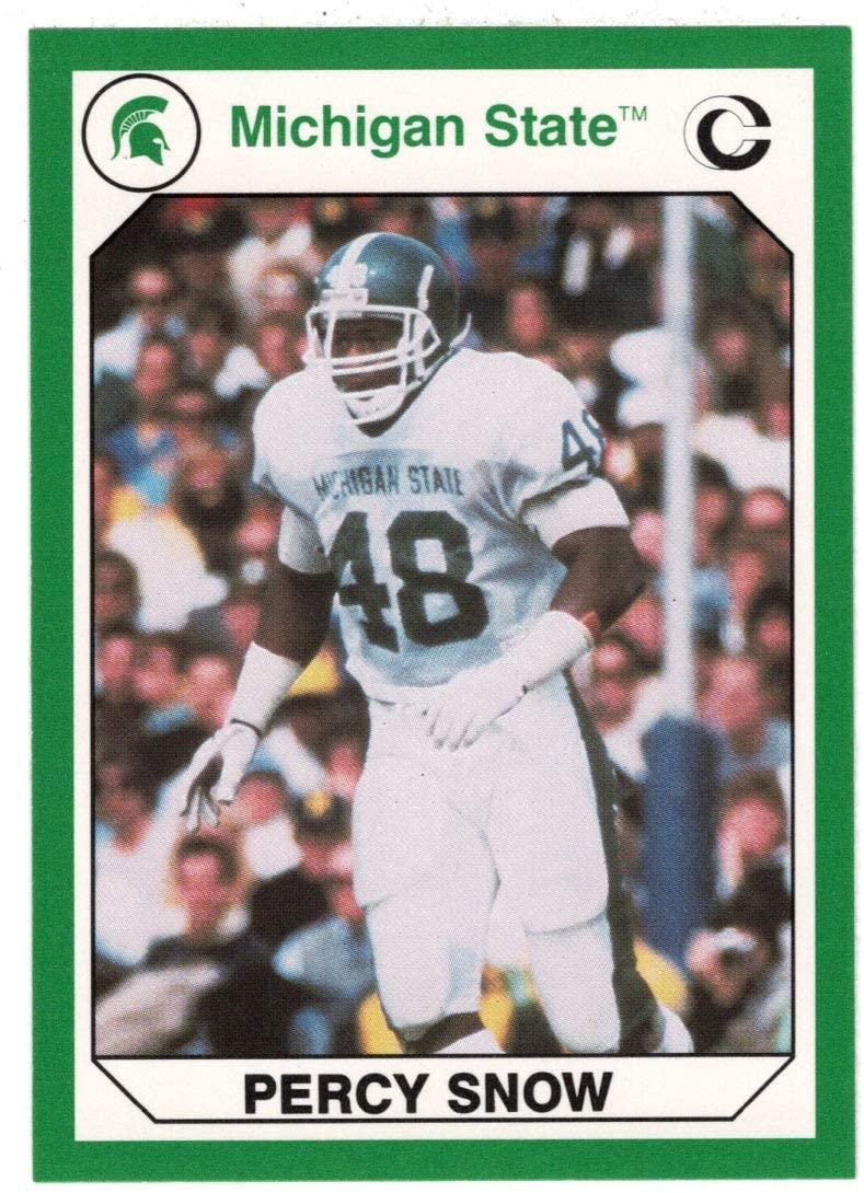 Percy Snow (Multi-Sports Card) 1990 Michigan State Collegiate Collection 200 - # 56 Mint