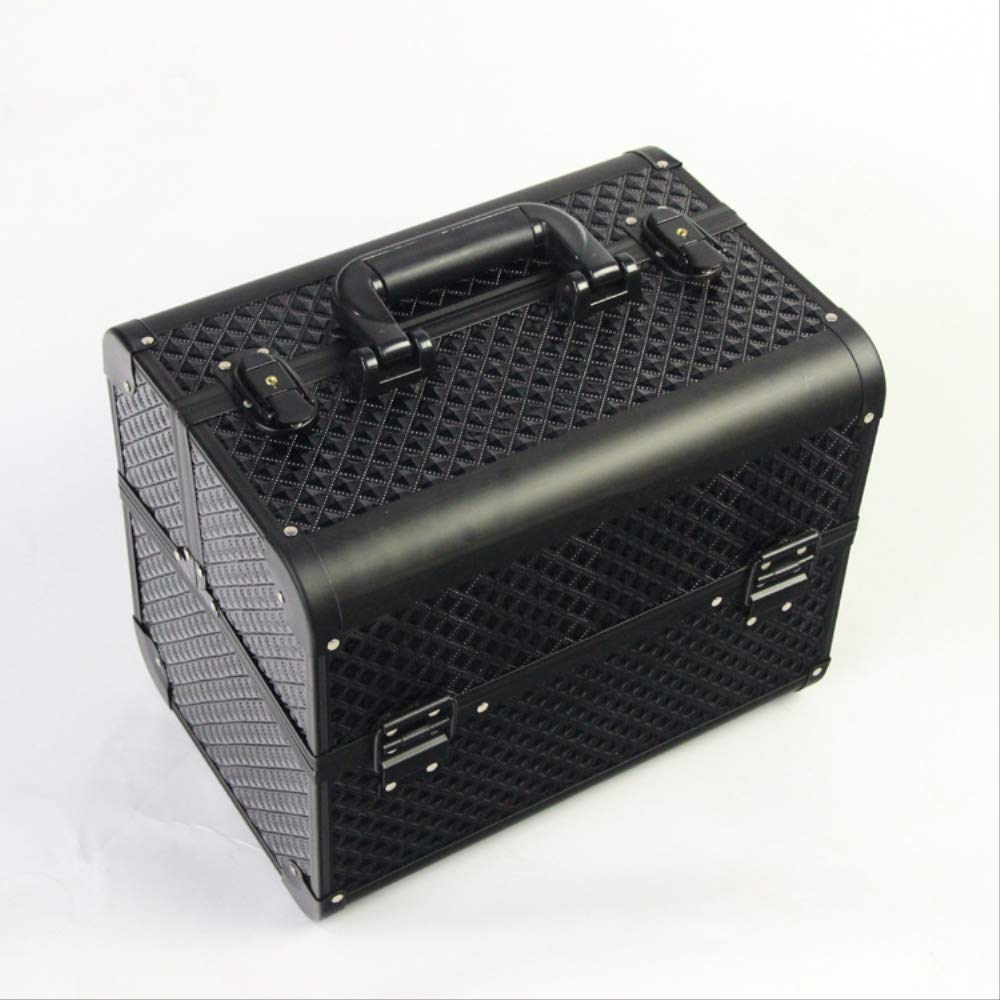 Professional Aluminium Nail Toolbox Make Up Beauty Case Cosmetic Bag Multi Tiers Lockable Jewelry Box Gift Travel Suitcase