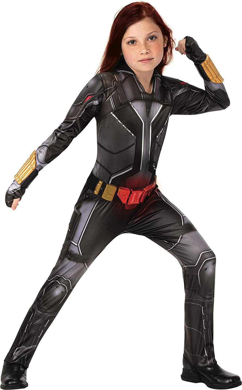 Rubies Girls Marvel Studios Black Widow Movie Deluxe Costume, Black Suit, Medium