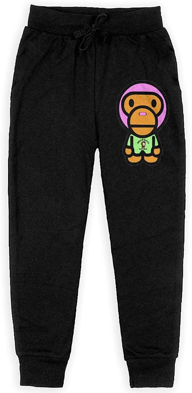 Keyvic Fashion Ba-Pe Shark Men's and Women's Fashion Pants with Drawstring Elastic Waist Pocket Casual Pants Cotton