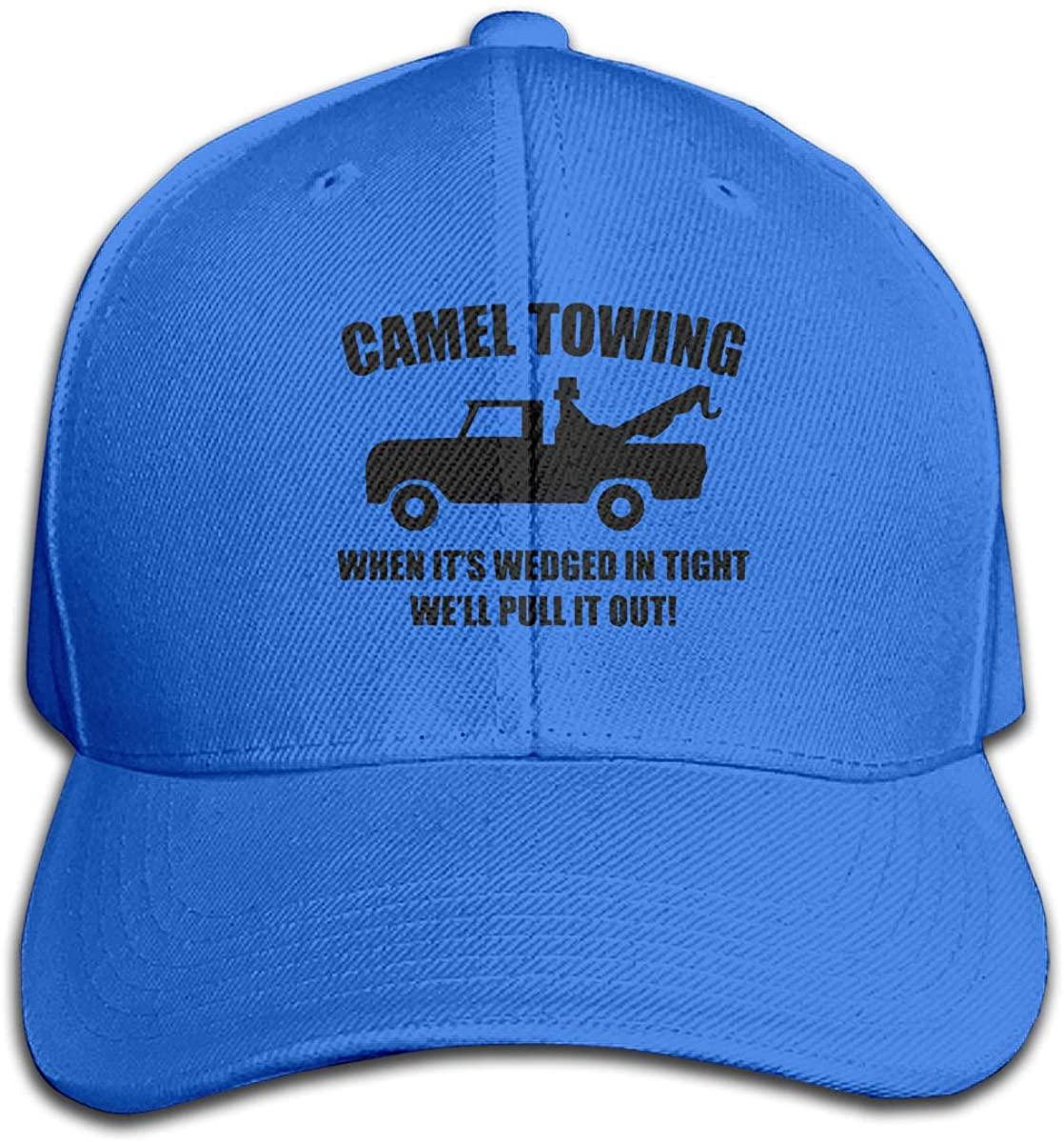 Luomendi Baseball Caps Camel Towing Unisex Snapback Hat Adjustable Visor Cap Black