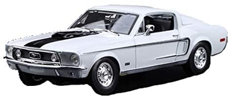 Hty Car Model 1:18 / Compatible with Ford 1968 Mustang GT/Classic Car Model Simulation Alloy Car Model Gift (Color : White)