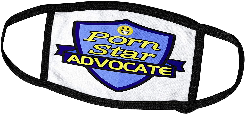 3dRose Dooni Designs – Funny Sarcastic Advocate Designs - Porn Star Advocate Support Design - Face Masks (fm_242766_2)