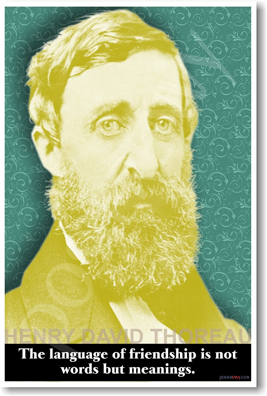 Henry David Thoreau - The Language of Friendship Is Not Words but Meanings - Classroom Poster
