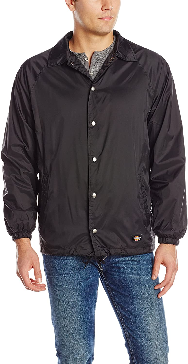 Dickies Men's Snap-Front Nylon Jacket