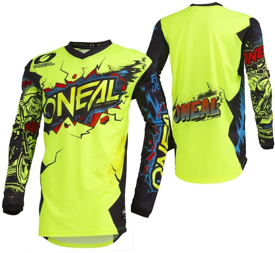 O'Neal 001E-904 Men's Element Villain Jersey (Neon Yellow, Large)