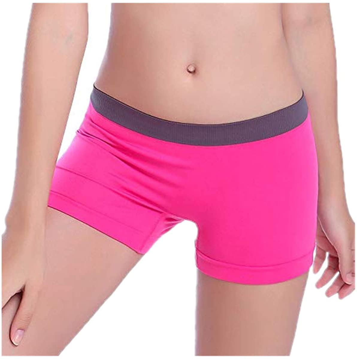 Adeliber Summer Women's High Waist Yoga Pants Running Exercise Fitness Belt Shorts