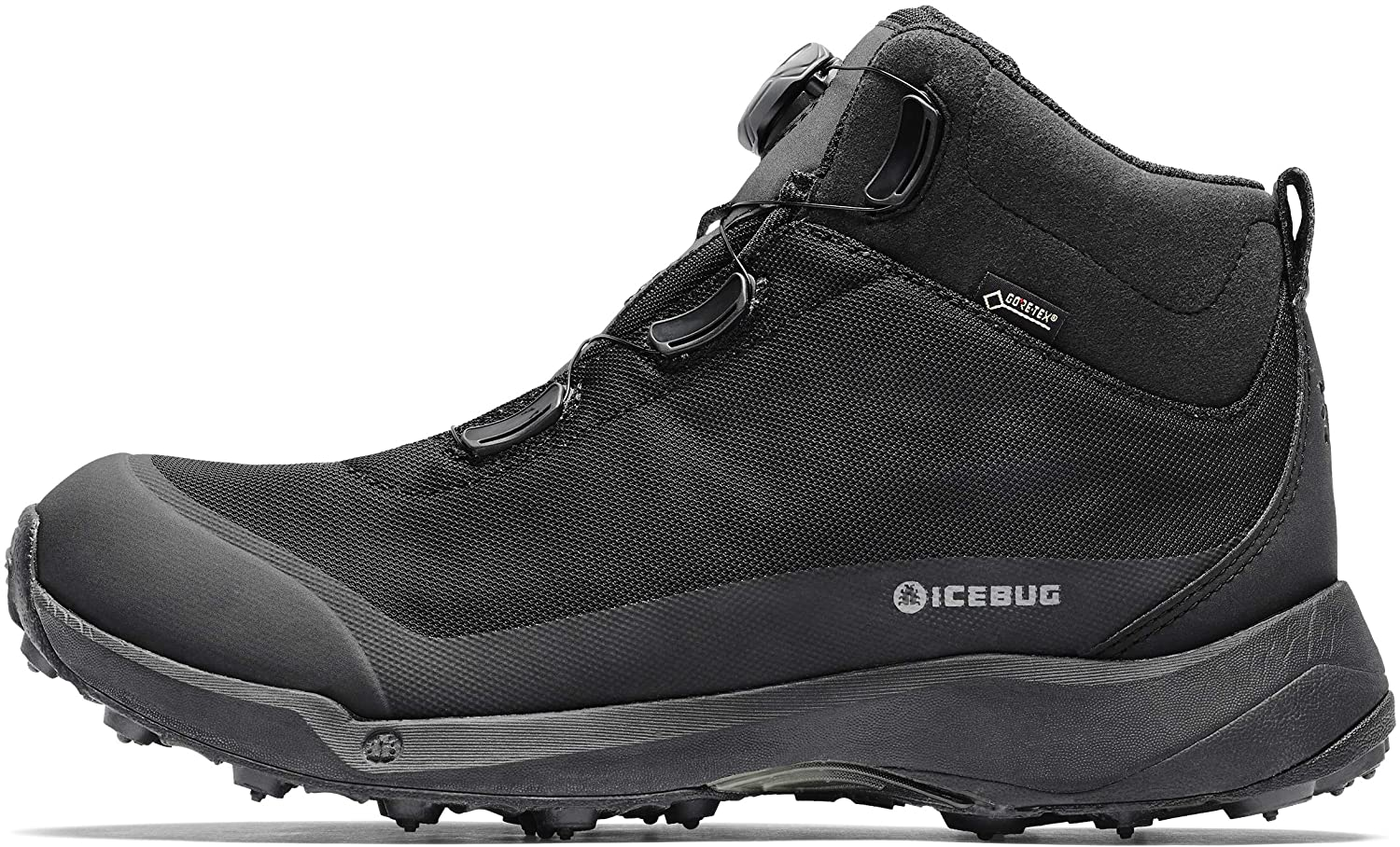 Icebug Mens Stavre BUGrip GTX Hiking Boot with Carbide Studded Traction Sole