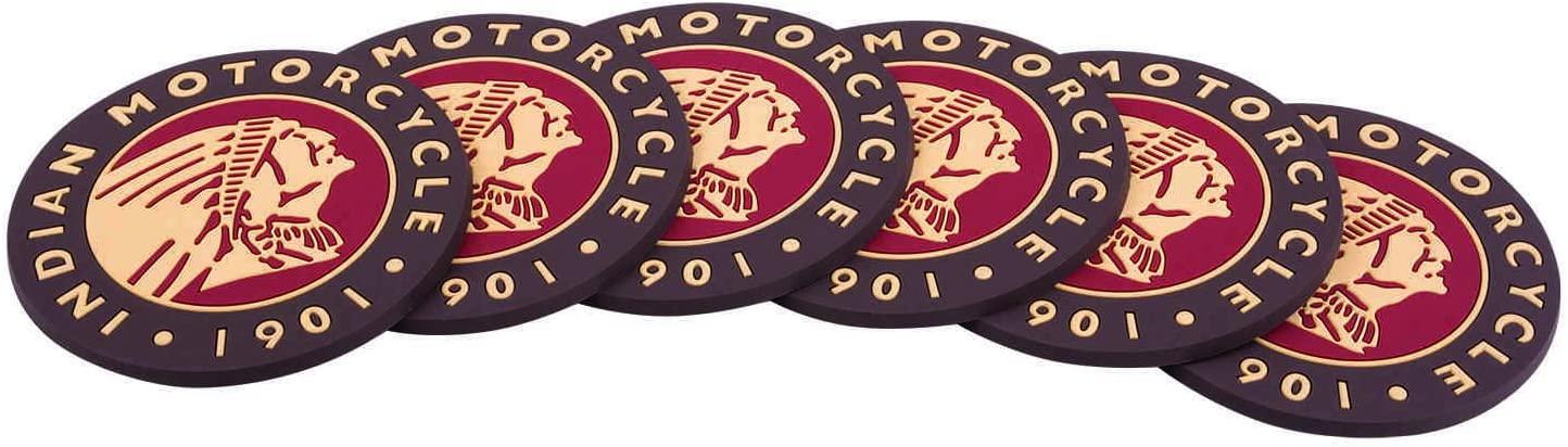 Indian Motorcycle Icon Logo Coasters, Set of 6 - One Size