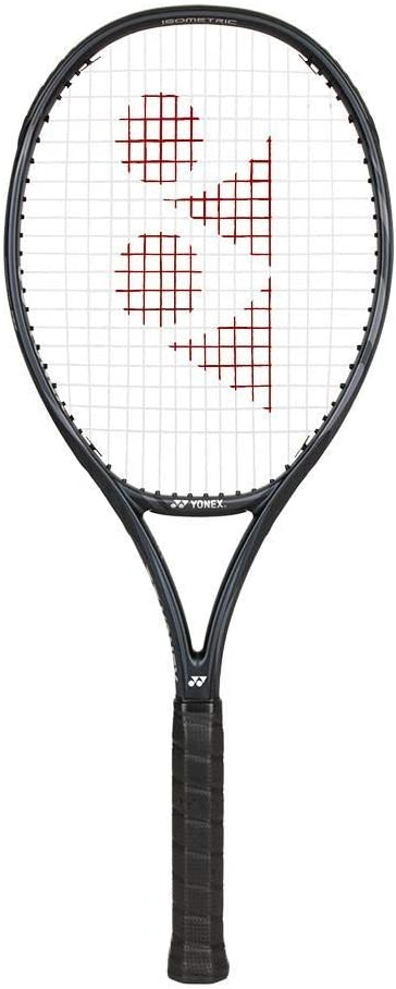 Yonex VCORE 100 (4 1/8 Inch Grip) Galaxy Black Tennis Racquet Strung with White Strings