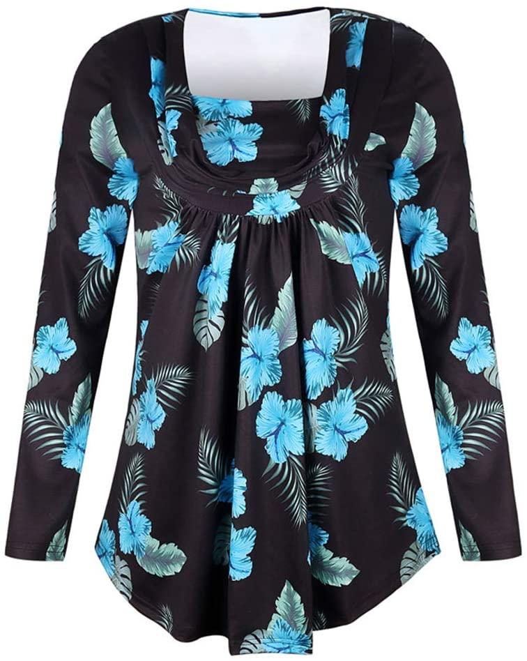 HPZSX V-Neck Print Dress, Women's Long-Sleeved Floral Print Vintage V-Neck Tassel Bohemian Midi Dress