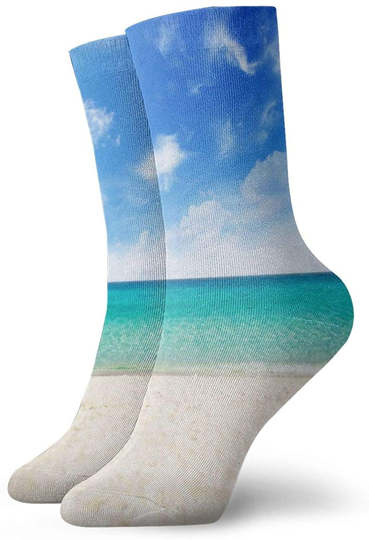Mens Womens Crew Socks Watercolor Sea Turtle Turquoise Athletic Socks Designer Anti Odor Cushion Short Boot Stocking