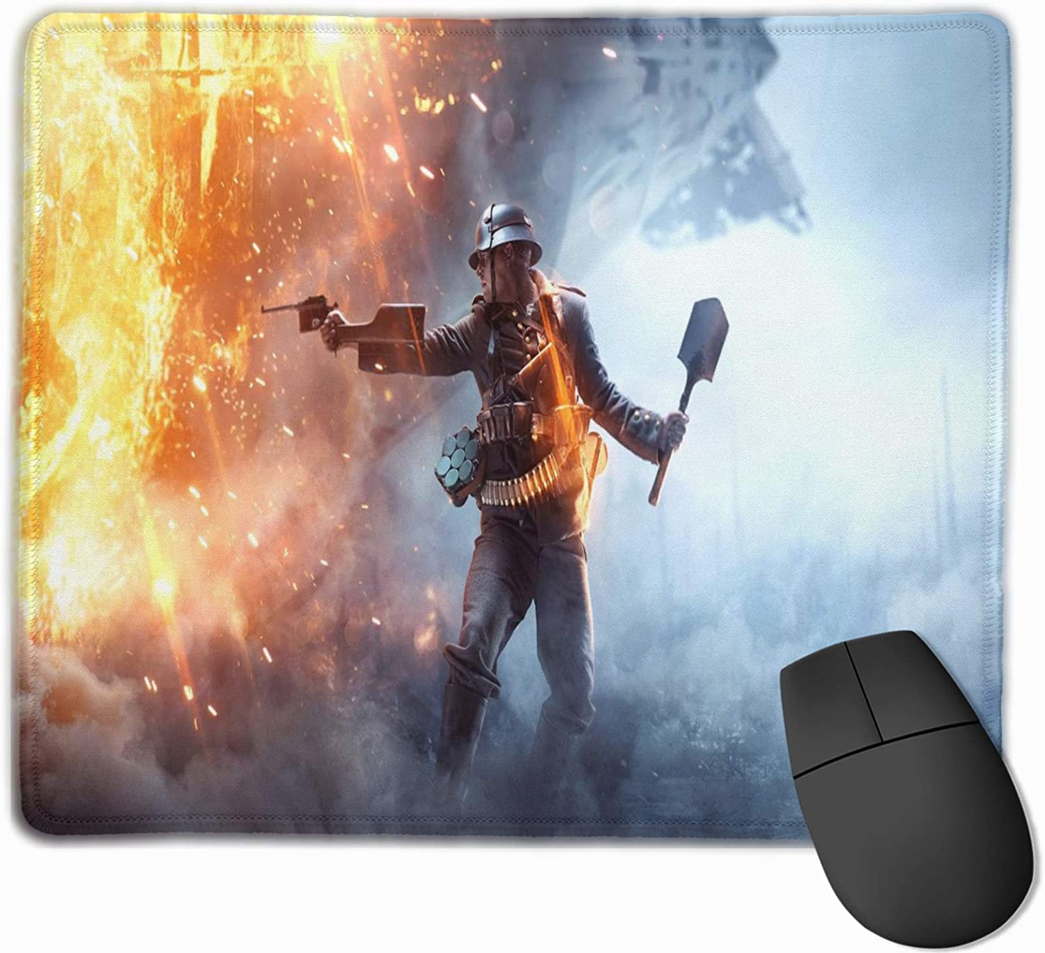 Pubg-25 Mouse Pad with Stitched Edge Non-Slip Rubber Base Mousepad for Computer, Laptop, Home, Office & Travel