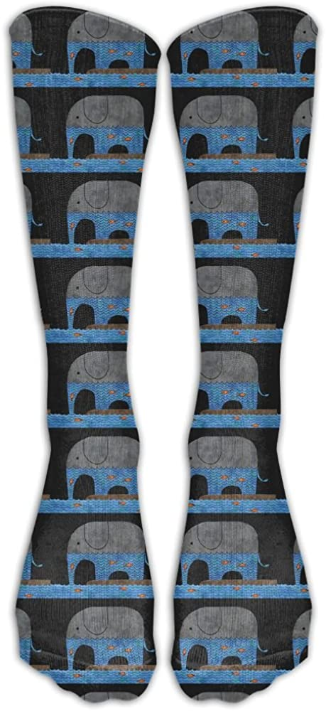 YOIGNG Socks Blue Elephant Mens Womens Knee High Tube Dresses Liner Cosplay Stockings