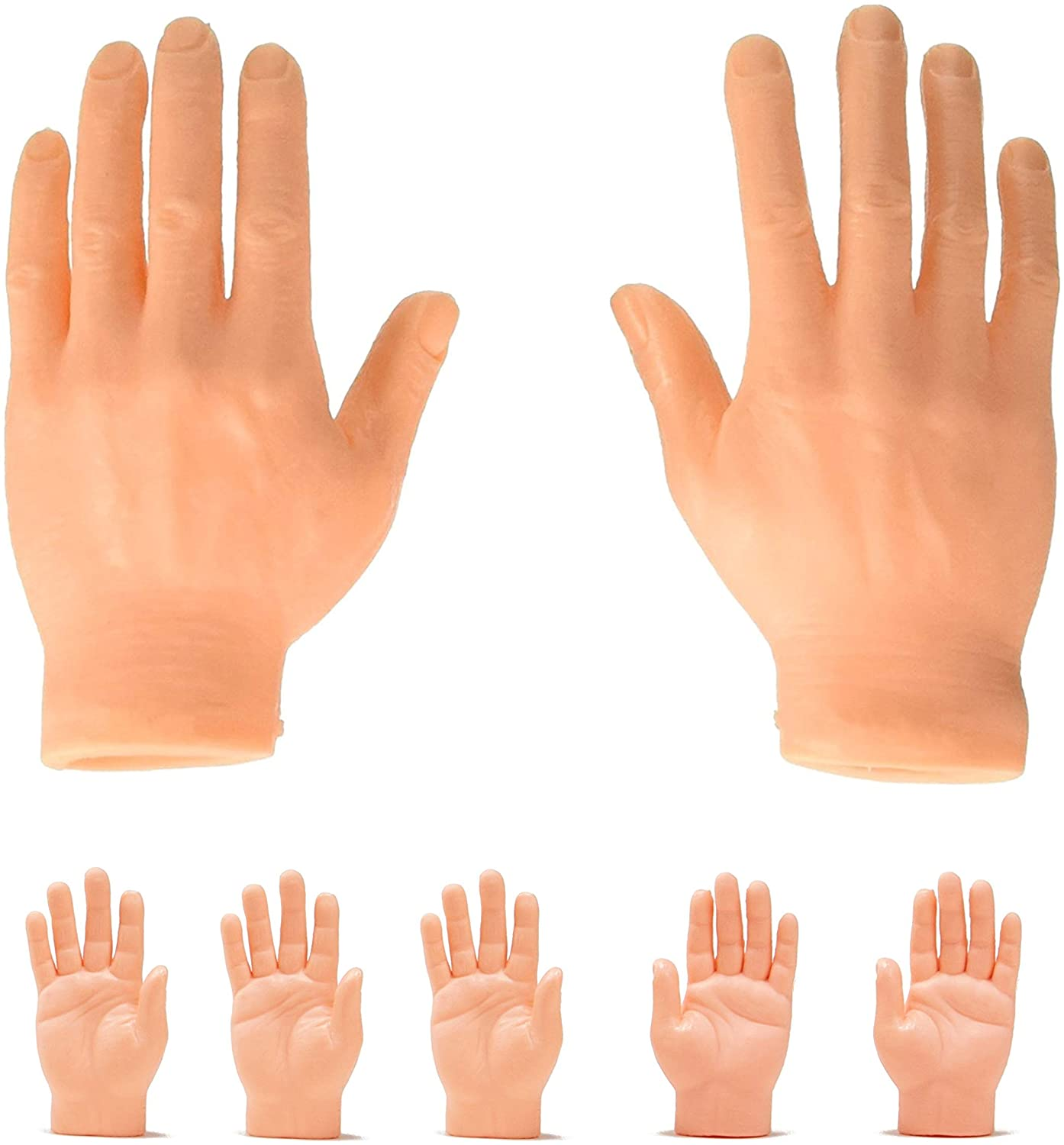 Finger Hands Finger Puppets Tiny Hands Left & Right Hands for Party and Game, Set of 5
