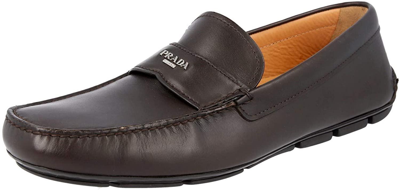Prada Men's 2DD007 X7O F0003 Leather Loafers