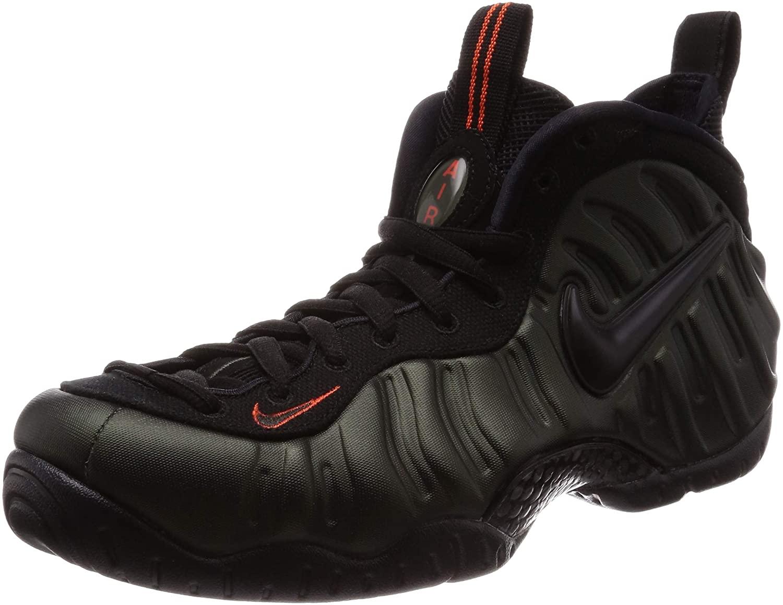 Nike Air Foamposite Pro Men's Shoes Sequoia/Black/Team Orange 624041-304 (11.5 D(M) US)