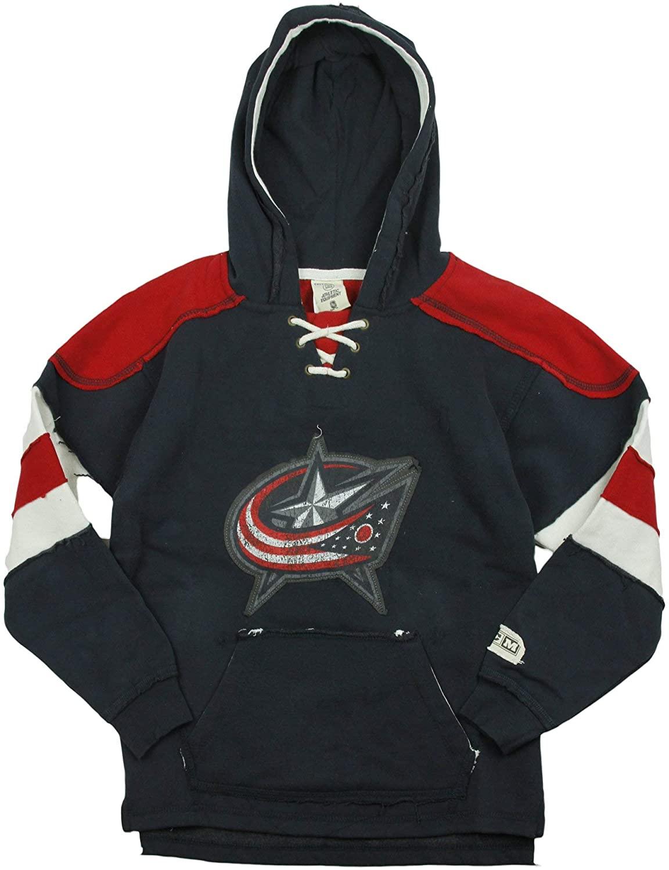 Reebok NHL Columbus Blue Jackets Big Boys Youth (8-20) Vintage Pullover Fleece Hoodie - Navy