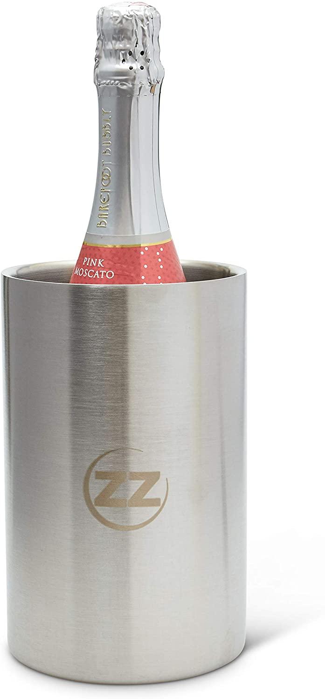 Bunzzr Stainless Steel Wine Chiller Bucket - Insulated Long Lasting Wine Bottle Holder Condensation Free - Wine Chiller Bottle Cooler for Indoor or Outdoor Parties