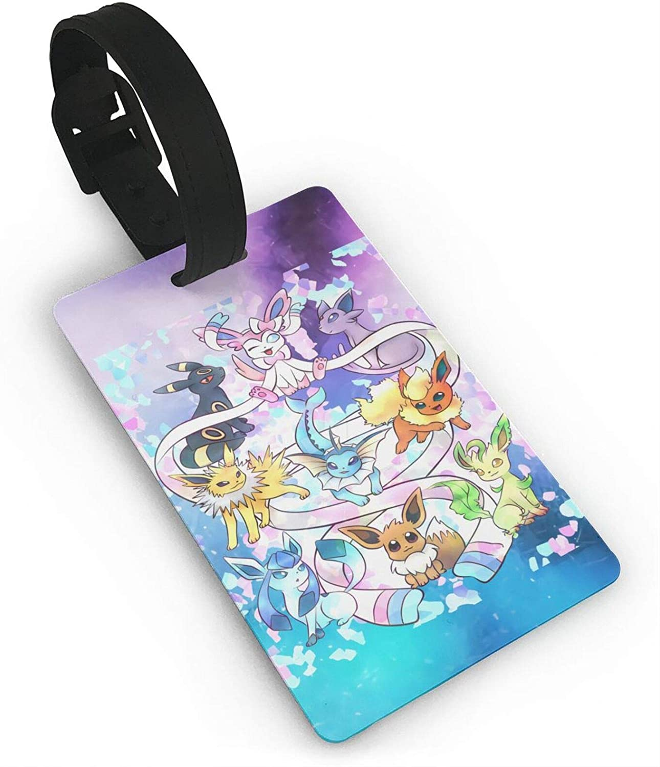 Duwamesva Eevee Evolutions Luggage Id Tags Suitcase Carry-On Cards