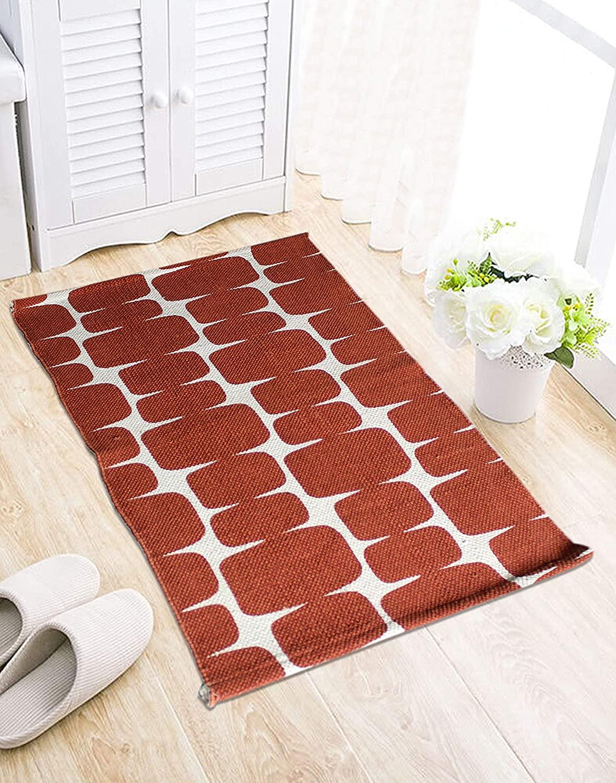 Tanishkam Decor Unique Cotton Printed Multi Purpose Floor Rug/Fancy Area Rugs 32