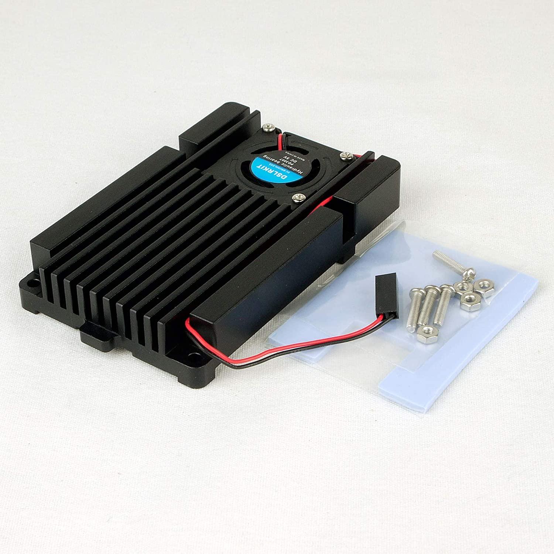 DSLRKIT Aluminum Heatsink Quiet Turbo Blower Fan Cooler Cooling Base (2pin Dupont Cooling Fan Interface) for Raspberry Pi 4B 3B 3Bplus
