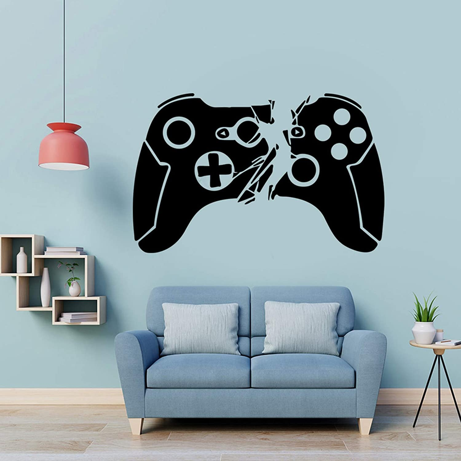 Game Controller Wall Sticker Video Game Wall Decals for Boys Kids Room, Creative Gaming Wall Posters Removable Wallpaper for Bedroom Playroom