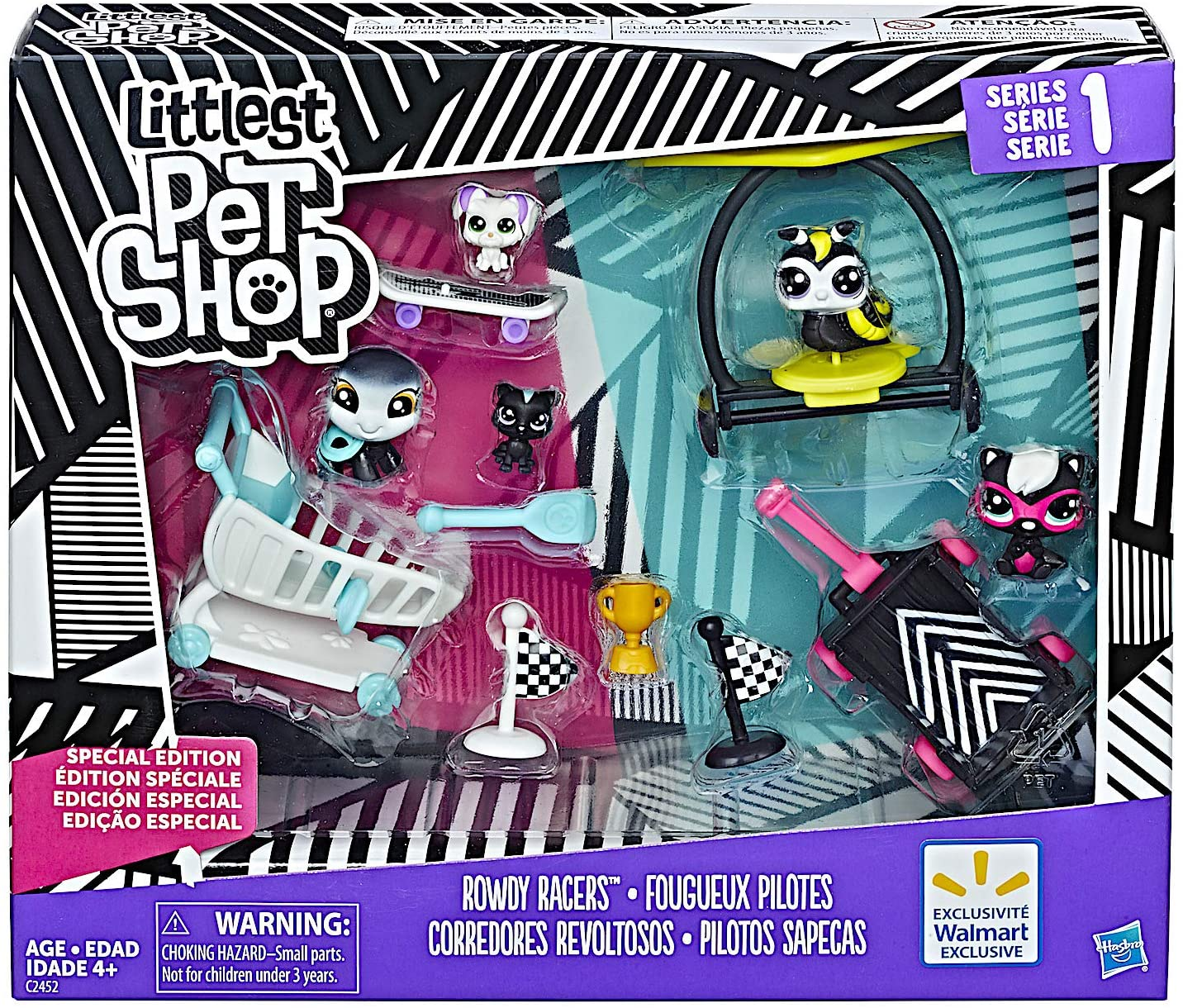 Littlest Pet Shop Rowdy Racers - Series 1 Black and White Special Collection