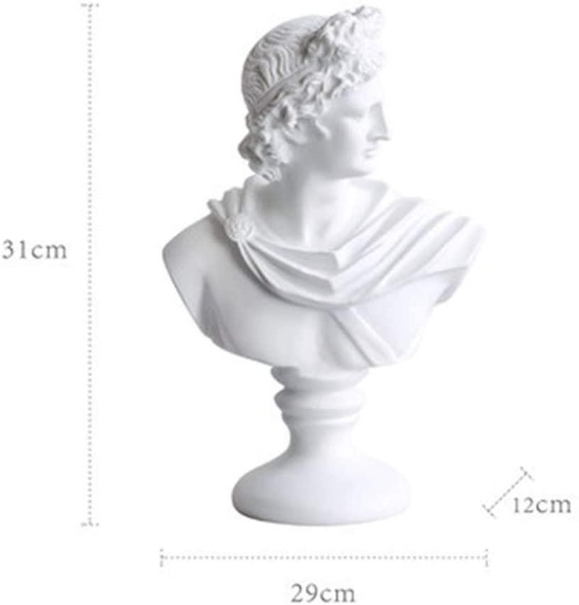 GEPIJPGEKH Retro David Head Bust Statue Greek Classic Style Venus Sculpture Elegant Home Decorations Resin Craftwork Present