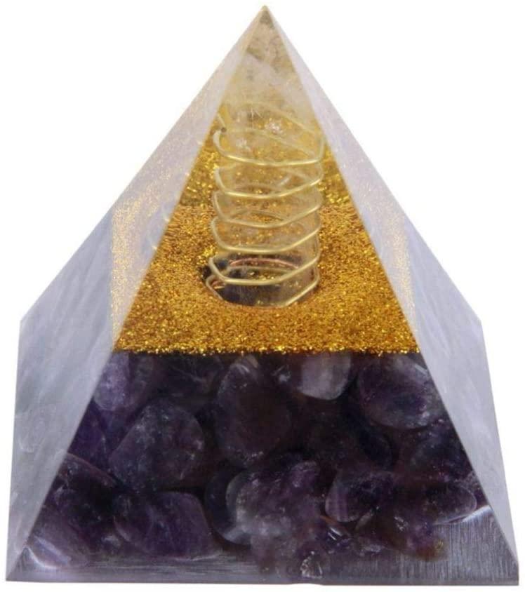 UKURO Pyramid Figurine Crystal Healing Statue Natural Aventurine Quartz Stones Egypt Sculpture Home Decor Collection