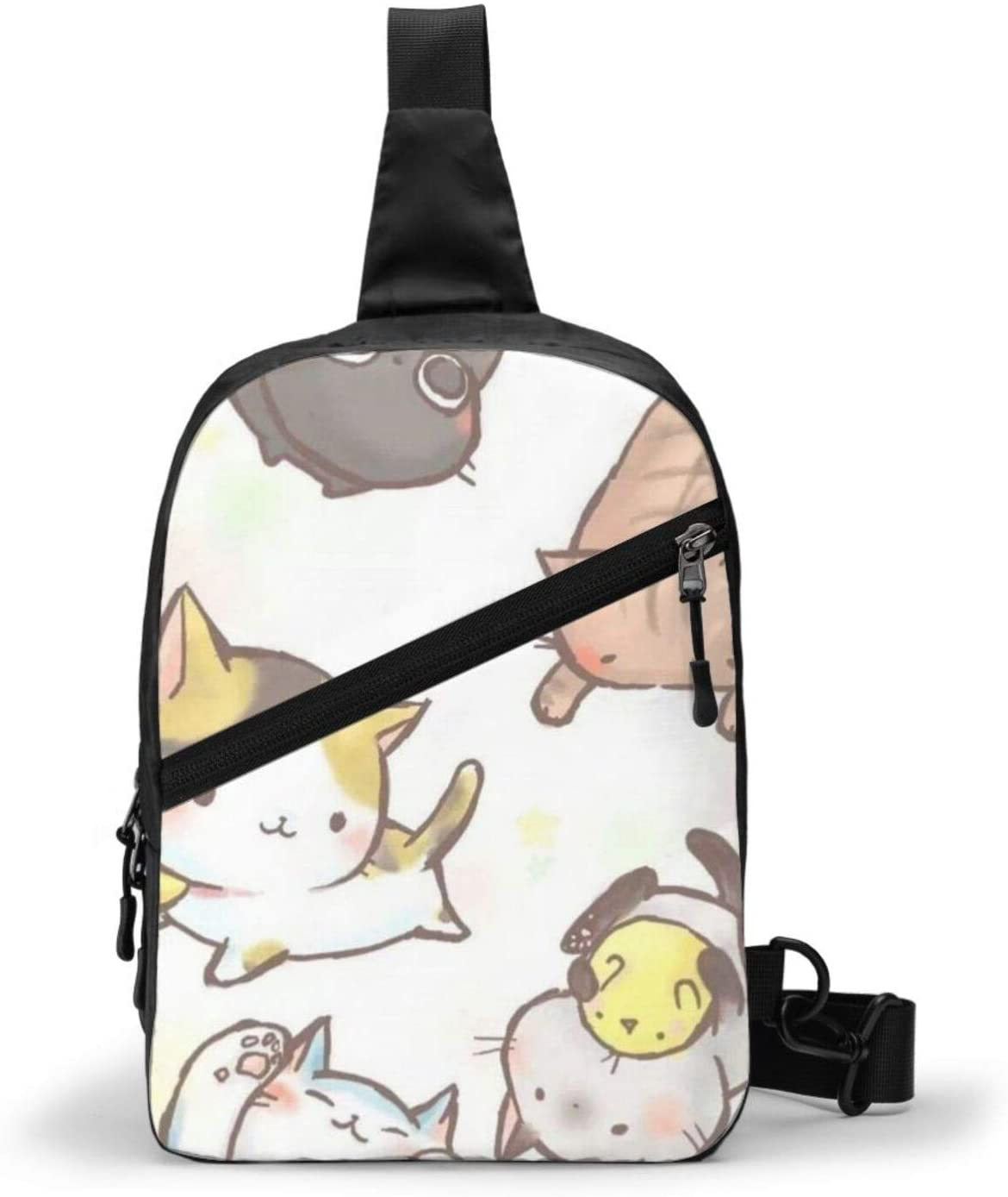 """MOCKER """"Lovely Cat"""" Theme Strap Backpack, Carry-On Bag, Waterproof, Small Size and Large Capacity"""