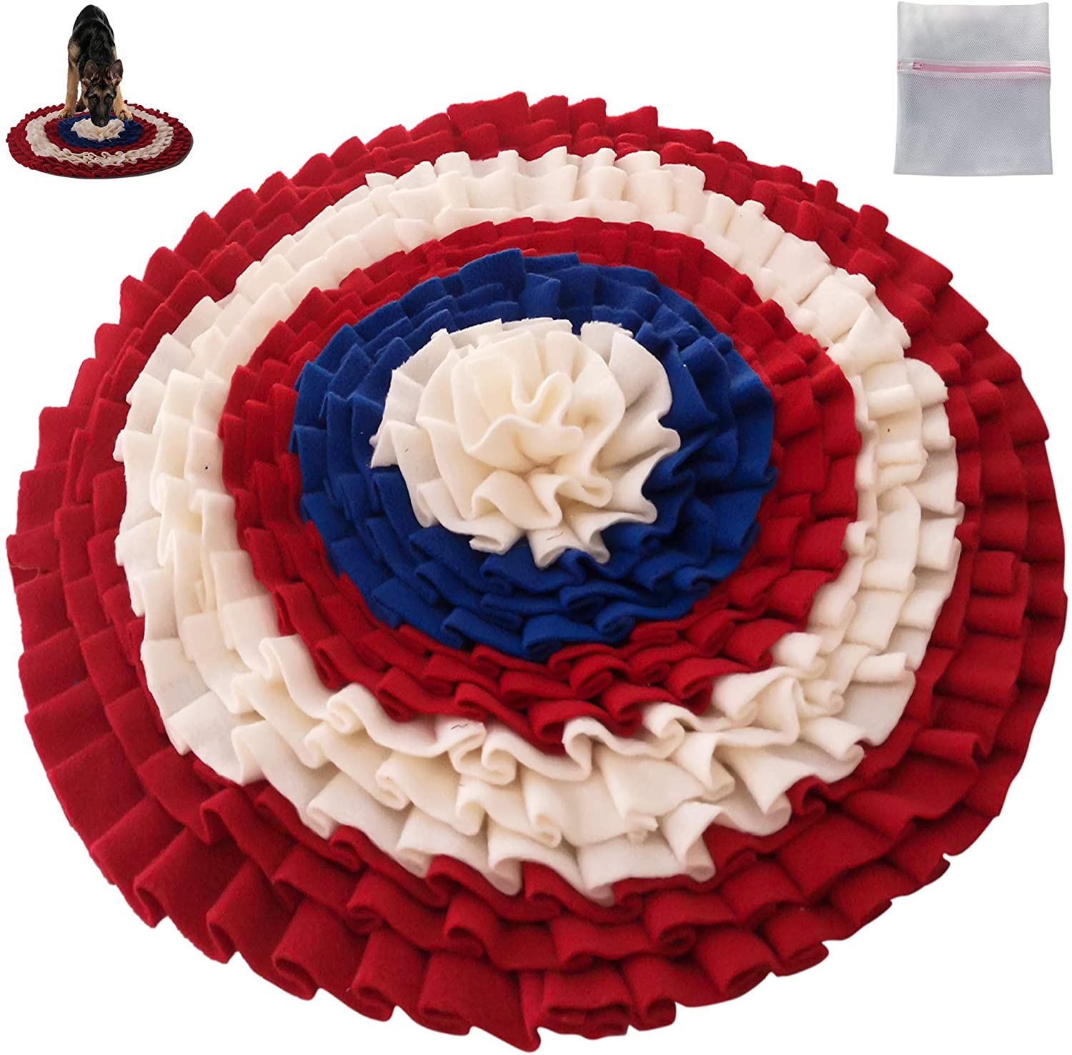 Freddy&Pals Snuffle Mat for Dogs - Pet Feeding Mat - Training Mat - Puppy Soft Sniffing Pad - Non Slip - Foraging Skill - Stress Release - Ideal for Dog Smell Blanket Puzzle Toys
