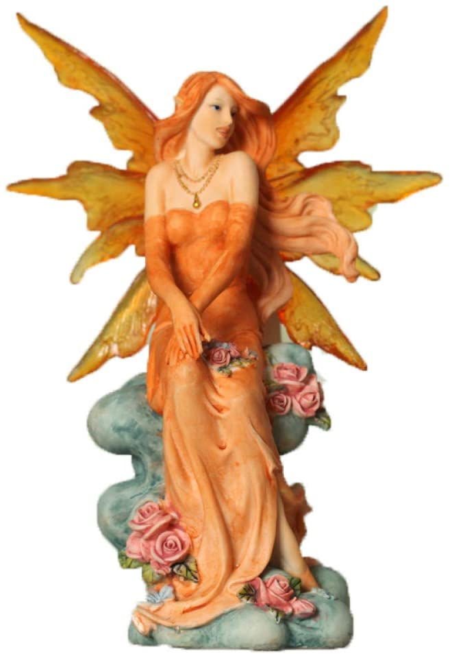 UKURO Fairy Angel Statue Elf Figurine Resin Girl Sculpture Hotel Bar House Ornaments Home Decor Art Accessories
