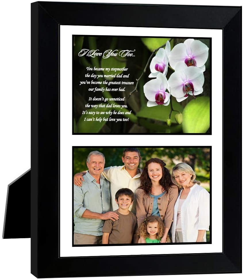 Stepmother Gift, Stepmom Poem in Matted Frame for Her Birthday or Christmas, Add Photo