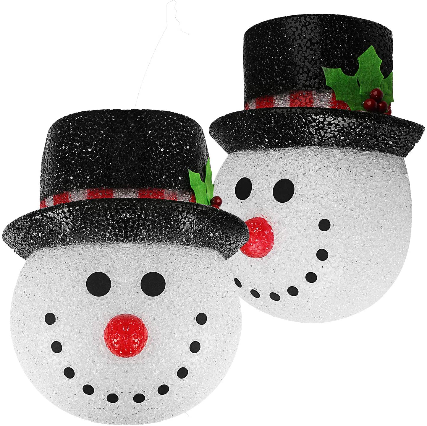 2 Pieces Christmas Porch Light Covers Christmas Outdoor Decoration Snowman Holiday Light Covers for Outdoor Indoor Winter Christmas Decoration