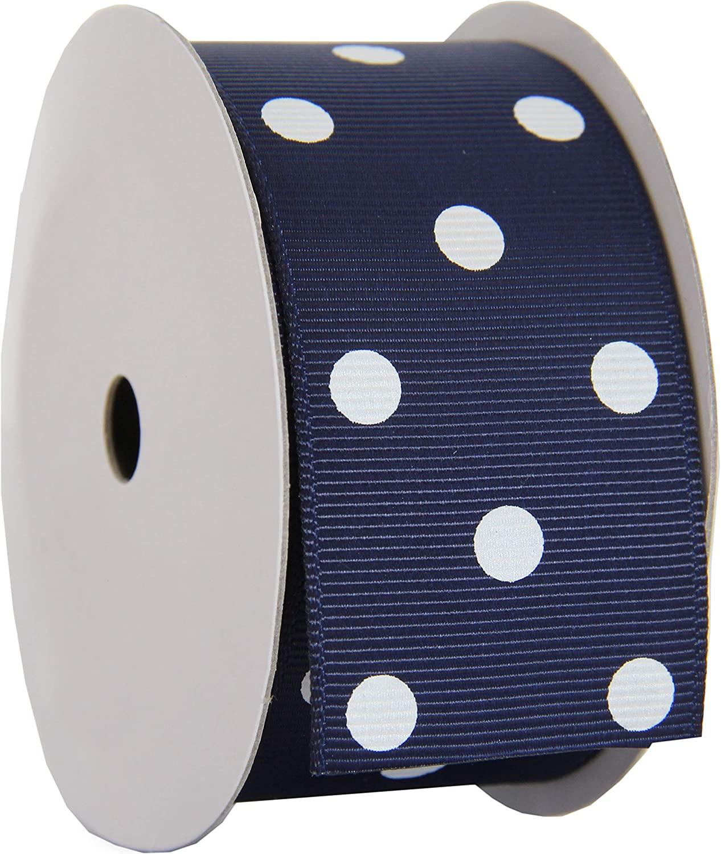 Grosgrain Dots Ribbon by Threadart 1 1/2