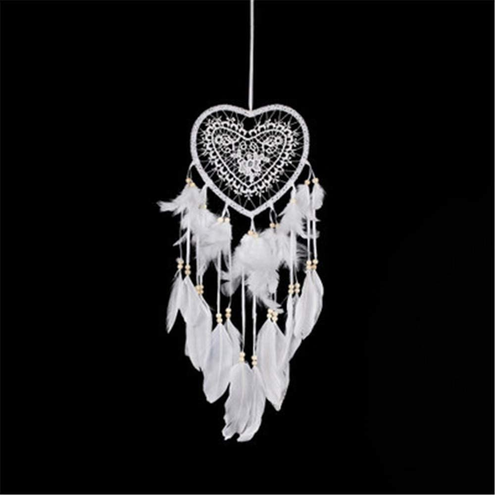 RAILONCH LED Dream Catcher, Handmade Dream Catchers Ornaments for Bedroom Wall Hanging Home Decor (White,Without Light)